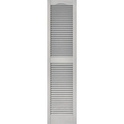 Picture of Builders Edge 15 In. x 55 In. Vinyl Louvered Shutter, (2-Pack)