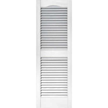 Picture of Builders Edge 15 In. x 43 In. Vinyl Louvered Shutter, (2-Pack)