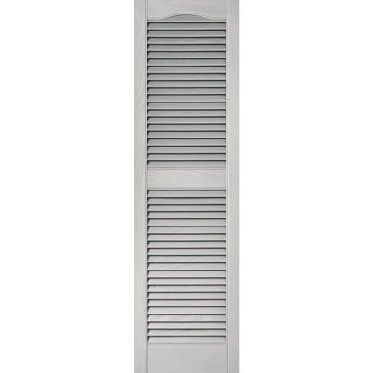 Picture of Builders Edge 15 In. x 52 In. Vinyl Louvered Shutter, (2-Pack)