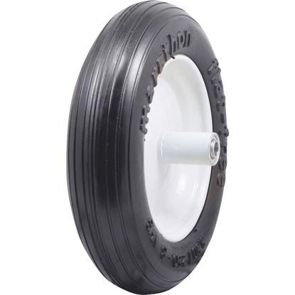Picture of Marathon 13 x 350/250-8 In. Flat Free Wheelbarrow Wheel