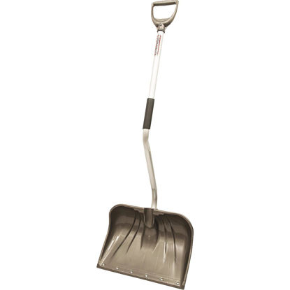 Picture of Rugg Back-Saver Lite-Wate 18 In. Poly Snow Shovel with 42.5 In. Aluminum Handle