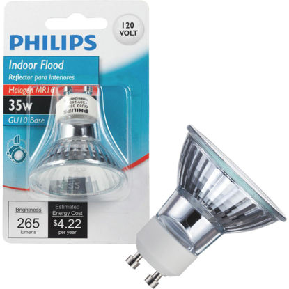 Picture of Philips 45W Equivalent Clear GU10 Base MR16 Halogen Floodlight Light Bulb