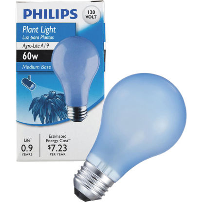 Picture of Philips 60W Agro Medium A19 Incandescent Plant Light Bulb