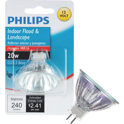 Picture of Philips 35W Equivalent Clear GU5.3 Base MR16 Halogen Floodlight Light Bulb