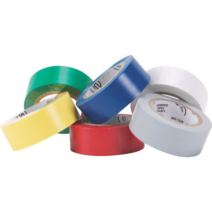 Picture of Do it General Purpose 3/4 In. x 20 Ft. Assorted Color Electrical Tape, (6-Pack)