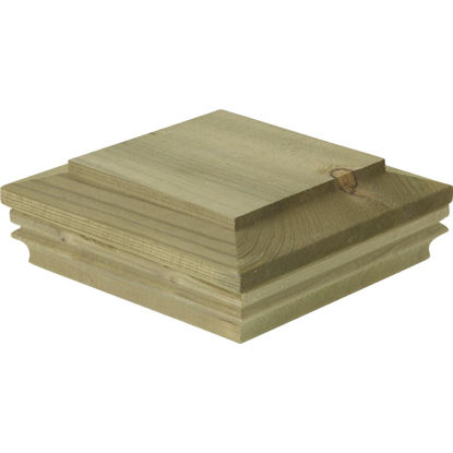 Picture of Deckorators 6 In. x 6 In. Pressure-Treated Pine Press-On Post Cap