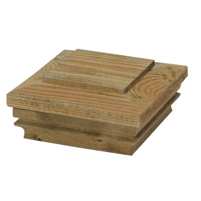 Picture of Deckorators 4 In. x 4 In. Pressure-Treated Pine Press-On Post Cap
