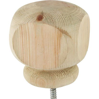 Picture of ProWood 3-1/2 In. x 3-1/2 In. Treated Wood Screw-On Contemporary Post Cap