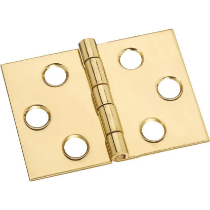 Picture of National 1-1/2 In. x 2 In. Brass Desk Hinge (2-Pack)