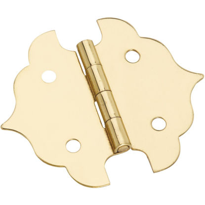 Picture of National 1-1/8 In. Antique Brass Decorative Hinge (2-Pack)