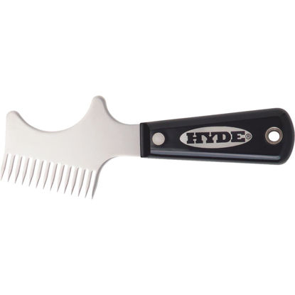 Picture of Hyde Black & Silver Stainless Steel Brush & Roller Cleaner