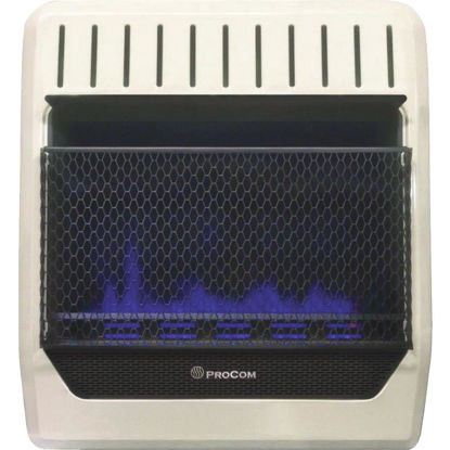 Picture of ProCom 20,000 BTU Natural Gas or Propane Gas Vent-Free Blue Flame Wall Heater