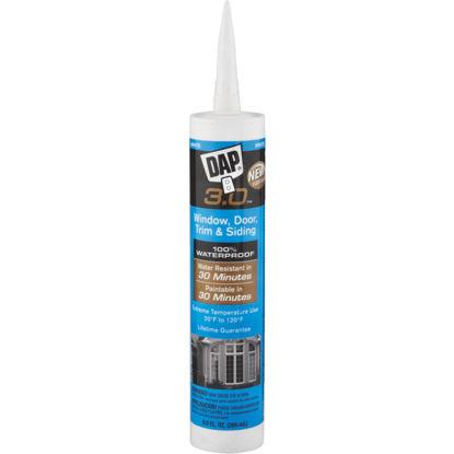 Picture of DAP 3.0 9 Oz. White Window, Door, Trim, & Siding All Purpose Siliconized Acrylic Latex Caulk