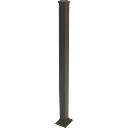 Picture of Gilpin Summit 2-1/2 In. x 2-1/2 In. x 37 In. Black Aluminum Railing Newel Post