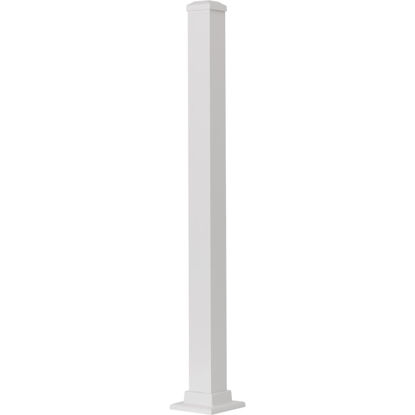 Picture of Gilpin Summit 2-1/2 In. x 2-1/2 In. x 37 In. White Aluminum Railing Newel Post