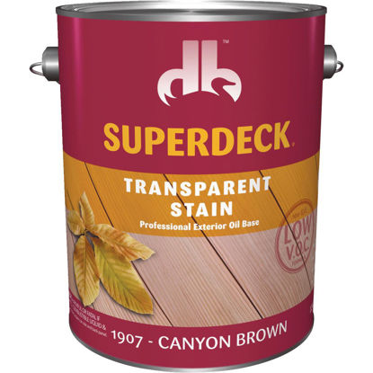 Picture of Duckback SUPERDECK Low VOC Transparent Stain, Canyon Brown, 1 Gal.