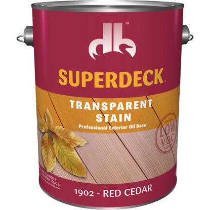 Picture of Duckback SUPERDECK Low VOC Transparent Stain, Red Cedar, 1 Gal.