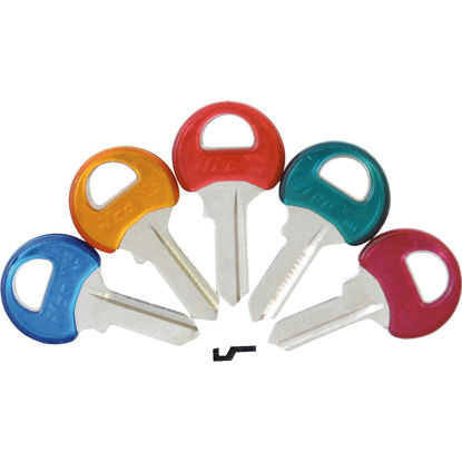 Picture of ILCO Master Assorted Colors Coated Padlock Key, M1PC (5-Pack)