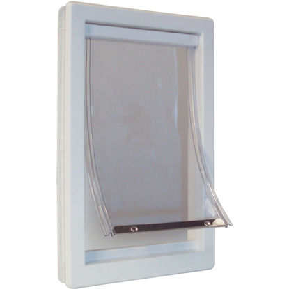 Picture of Ideal Pet 10-1/2 In. x 15 In. Extra Large Plastic White Pet Door