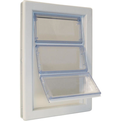 Picture of Ideal Airseal 10-1/4 In. x 15-3/4 In. Extra Large Plastic White Pet Door