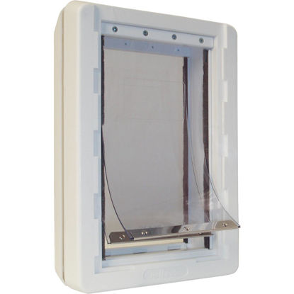 Picture of Ideal Pet Ruff Weather 9-3/4 In. x 17 In. Extra Large Plastic Off White Pet Door