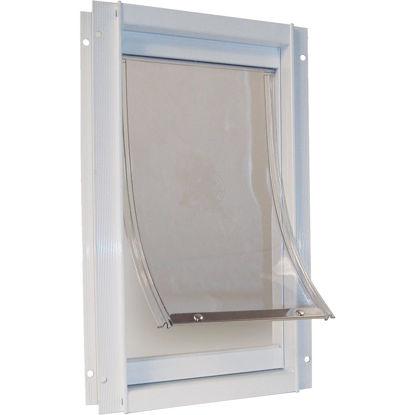 Picture of Ideal Pet 7 In. x 11-1/4 In. Medium Aluminum White Pet Door