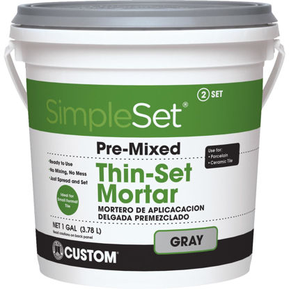 Picture of Custom Building Products SimpleSet Gallon Gray Pre-Mixed Thin-Set Mortar
