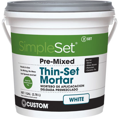 Picture of Custom Building Products SimpleSet Gallon White Pre-Mixed Thin-Set Mortar
