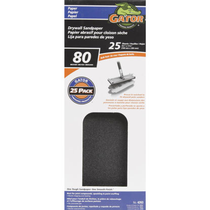 Picture of Gator 80 Grit 4-1/4 In. x 11-1/4 In. Drywall Sandpaper (25-Pack)