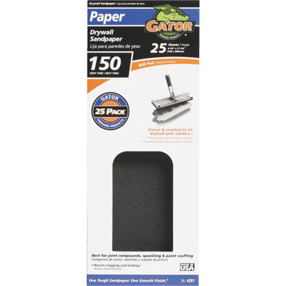 Picture of Gator 150 Grit 4-1/4 In. x 11-1/4 In. Drywall Sandpaper (25-Pack)