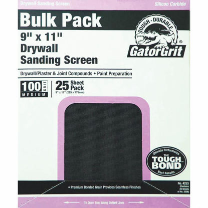 Picture of Gator Grit 100 Grit 9 In. x 11 In. Drywall Sanding Screen (25 Pack)