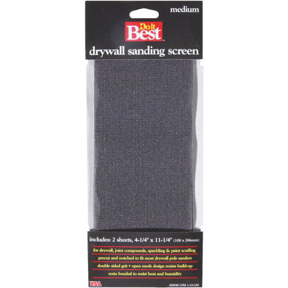 Picture of Do it Best 100 Grit 4-1/4 In. x 11-1/4 In. Drywall Sanding Screen (2-Pack)