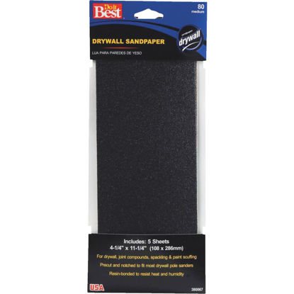 Picture of Do it Best 80 Grit 4-1/4 In. x 11-1/4 In. Drywall Sandpaper (5-Pack)