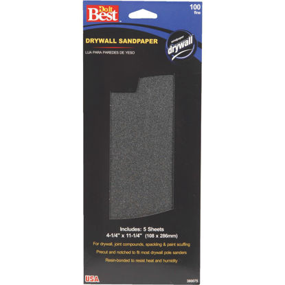 Picture of Do it Best 100 Grit 4-1/4 In. x 11-1/4 In. Drywall Sandpaper (5-Pack)