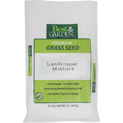 Picture of Best Garden 25 Lb. 3750 Sq. Ft. Coverage Sun to Partial Shade Grass Seed