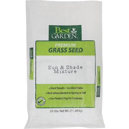 Picture of Best Garden 25 Lb. 6250 Sq. Ft. Coverage Sun & Shade Grass Seed