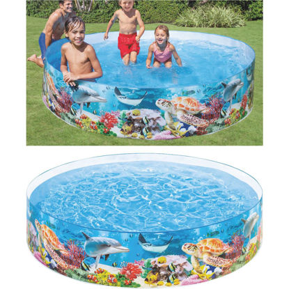 Picture of Intex 18 In. D. x 8 Ft. Dia. Polyethylene Deep Blue Sea Snapset Pool