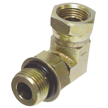 Picture of Apache 1/2 In. Male O-Ring x 1/2 In. Female Pipe Swivel 90 Deg. Hydraulic Hose Adapter