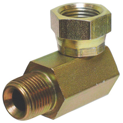 Picture of Apache 3/8 In. Male Pipe x 3/8 In. Female Pipe Swivel 90 Deg. Hydraulic Hose Adapter