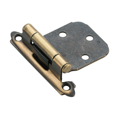 Picture of Amerock Antique Brass Self-Closing Variable Overlay Hinge (2-Pack)