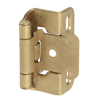 Picture of Amerock Burnished Brass Self-Closing Partial Wrap Overlay Hinge (2-Pack)