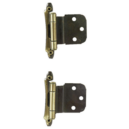 Picture of Amerock Antique Brass 3/8 In. Self-Closing Inset Hinge, (2-Pack)