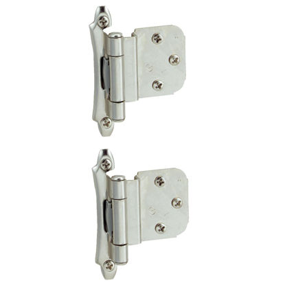 Picture of Amerock Polished Chromium 3/8 In. Self-Closing Inset Hinge, (2-Pack)