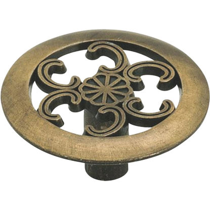 Picture of Amerock Allison Antique Brass 1-1/2 In. Cabinet Knob
