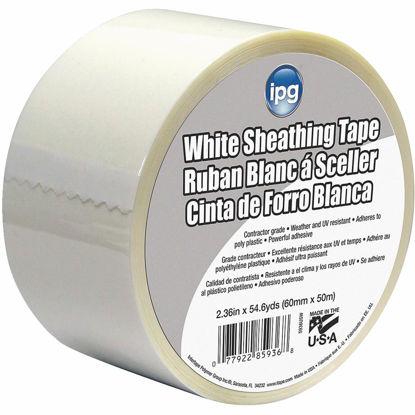 Picture of IPG 2-1/2 In. x 55 Yds. White Sheathing Tape