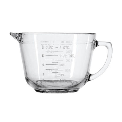Picture of Anchor Hocking Essentials 2 Qt. Clear Glass Measuring Batter Bowl