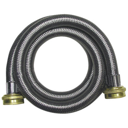 Picture of B&K 6 Ft. Stainless Steel 125 psi Washing Machine Hose