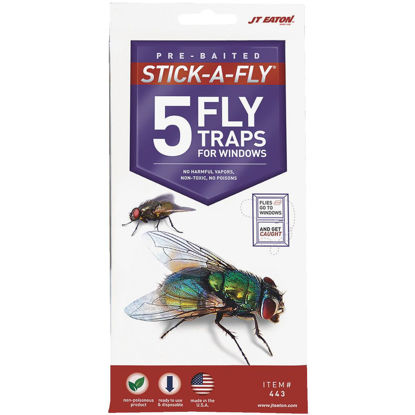 Picture of JT Eaton Stick-A-Fly Disposable Indoor Fly Trap (5-Pack)