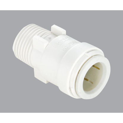 Picture of Watts 3/8 In. CTS x 3/8 In. MPT Quick Connect Plastic Connector