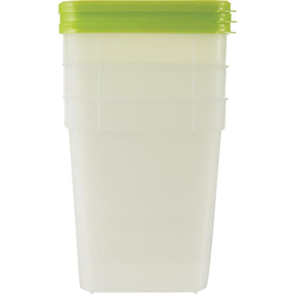 Picture of Stor Keeper 1 Qt. Clear Square Freezer Food Storage Container with Lids (3-Pack)